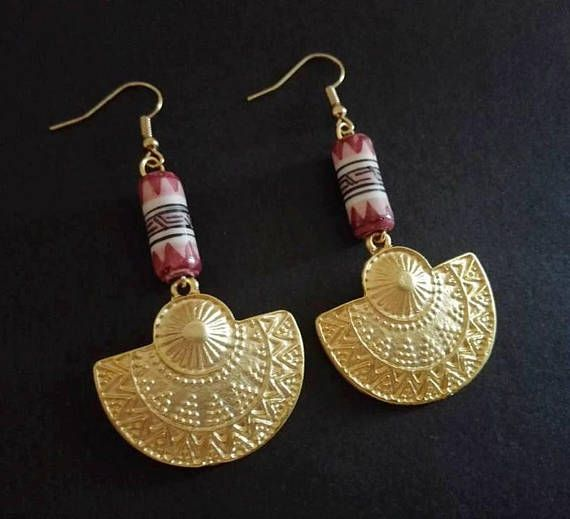 Hey, I found this really awesome Etsy listing at https://www.etsy.com/listing/534573796/ethnic-earrings-gold-plated-dangle