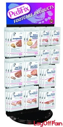 Pedifix Footcare Company - P17 - Pedifix Countertop Spinner 2-Sided Display (Stocked)