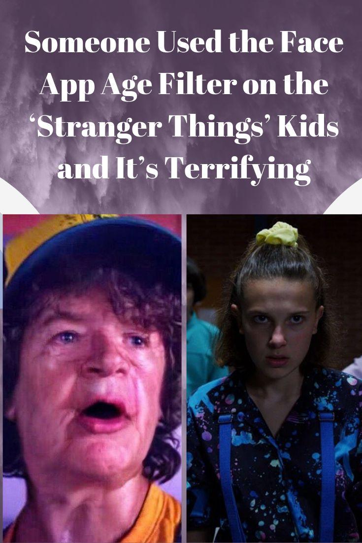 """Jemand hat den Altersfilter der Gesichts-App für die """"Fremden Dinge"""" -Kinder verwendet und es ist erschreckend"""
