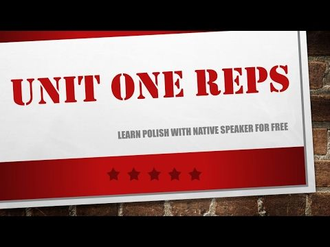 Learn Polish - Unit 1 - Repetitions 40 min of Polish phrases - polish for beginners - YouTube