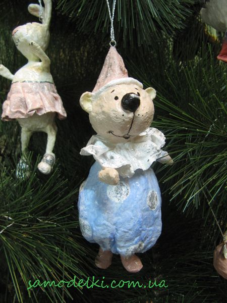 My cotton wool Christmas ornaments Елочные игрушки из ваты. Ватные игрушки