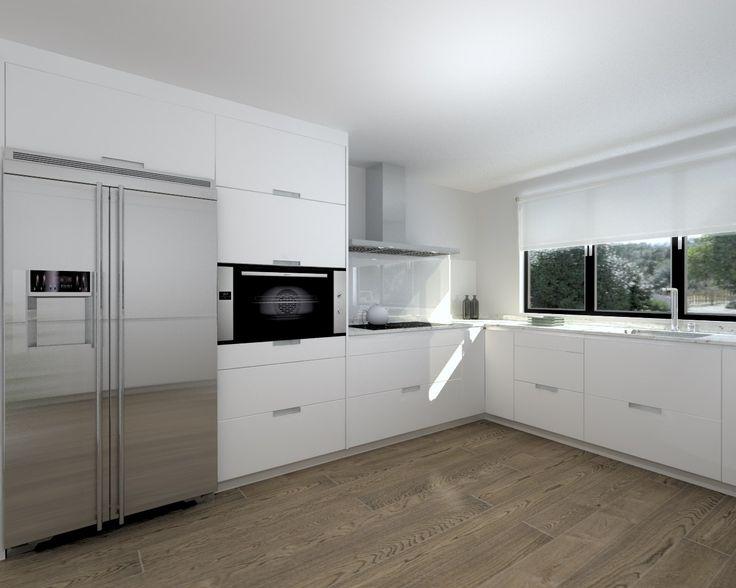 M s de 25 ideas incre bles sobre encimeras de granito en for Cocinas blancas con granito