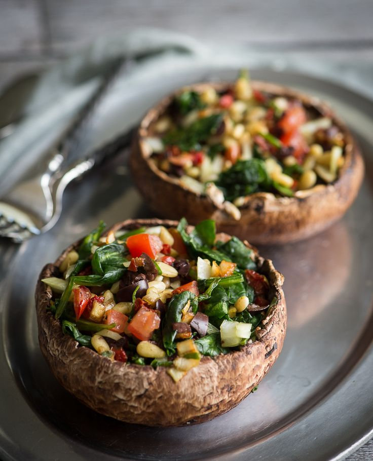 Stuffed Mushrooms - spinach is overpowering, think I'll try basil next time, skipped the dehydrator portion.