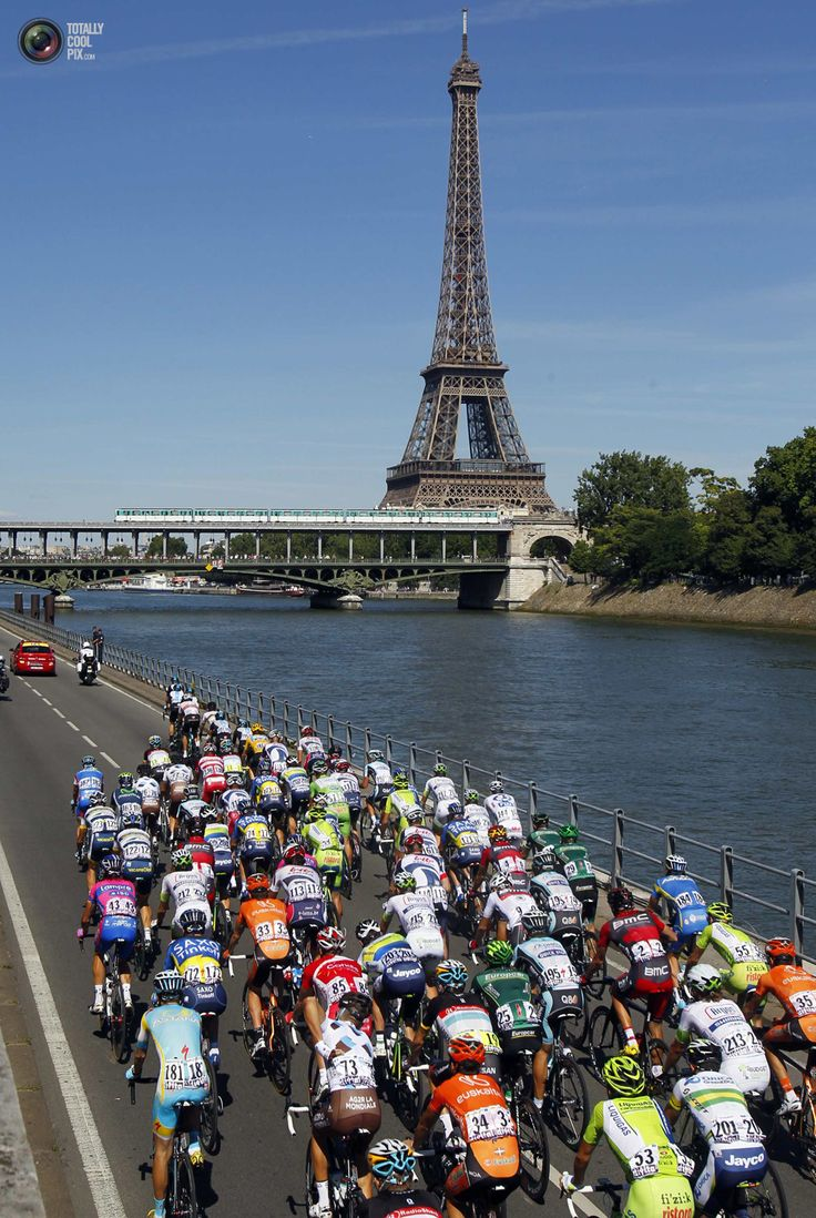 Guess where The peloton cycles past the