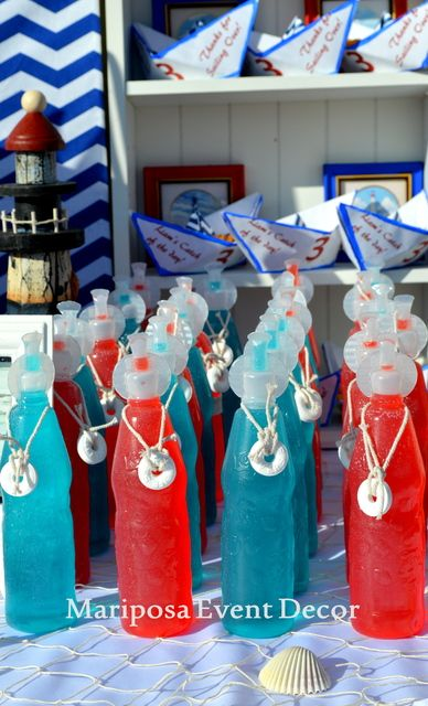Liam's Sailabration | CatchMyParty.com Nautical Birthday Party by Mariposa Event…
