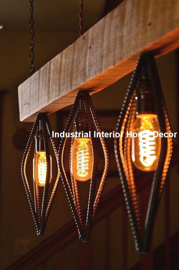 Stylish Industrial Home Decorations Diys Diyindustrial Homedecor Diy Hanging Light Fixtures Wood Light Fixture Diy Hanging Light