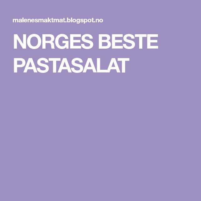 NORGES BESTE PASTASALAT