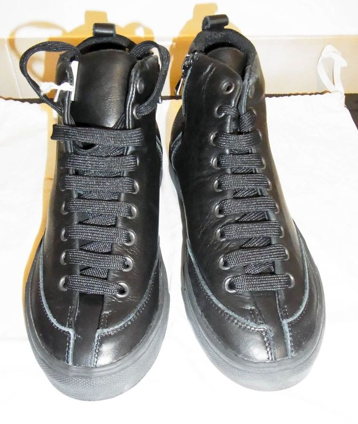 COMING SOON LADIES BLACK LEATHER TRAINERS-UK 3-IT 36-NEW-NO BOX-VERY CHIC #ComingSoon #Trainers