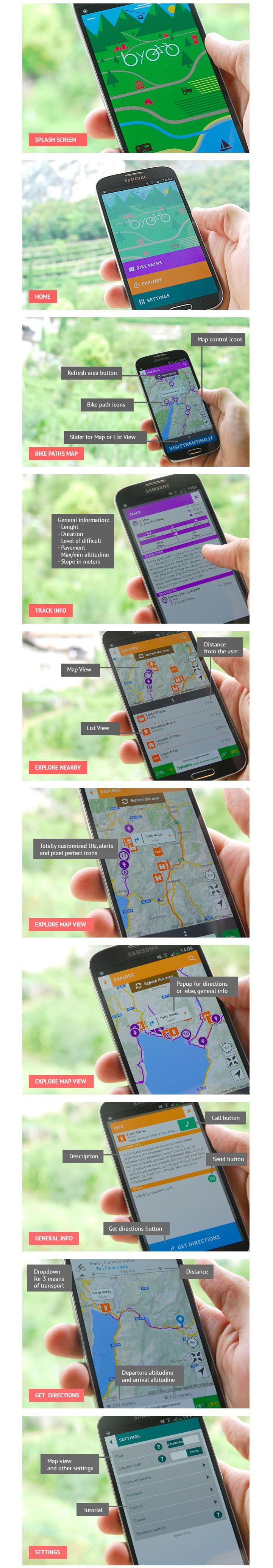 Bybyke® mobile app #mobile #app #design #ux #ui #sport #bike