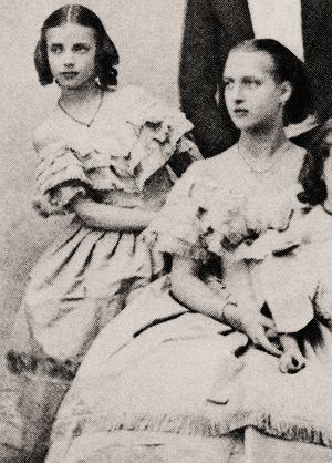 Princesses Dagmar (L) & Alexandra of Denmark, the future Empress of Russia and future Queen of the UK