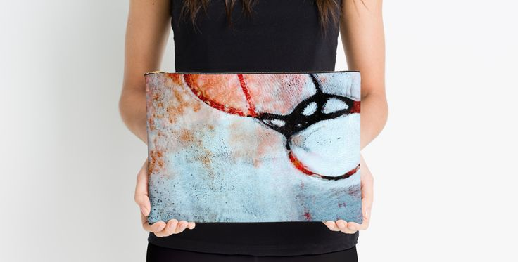 Art pouch by AbstraktMarstein Kari Anne Marstein - Norwegian artist - abstract art - gelli art