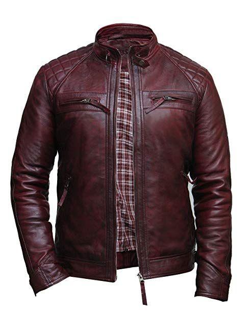 d5d2654b8 Brandslock Mens Genuine Leather Biker Jacket Distressed Review | Men ...