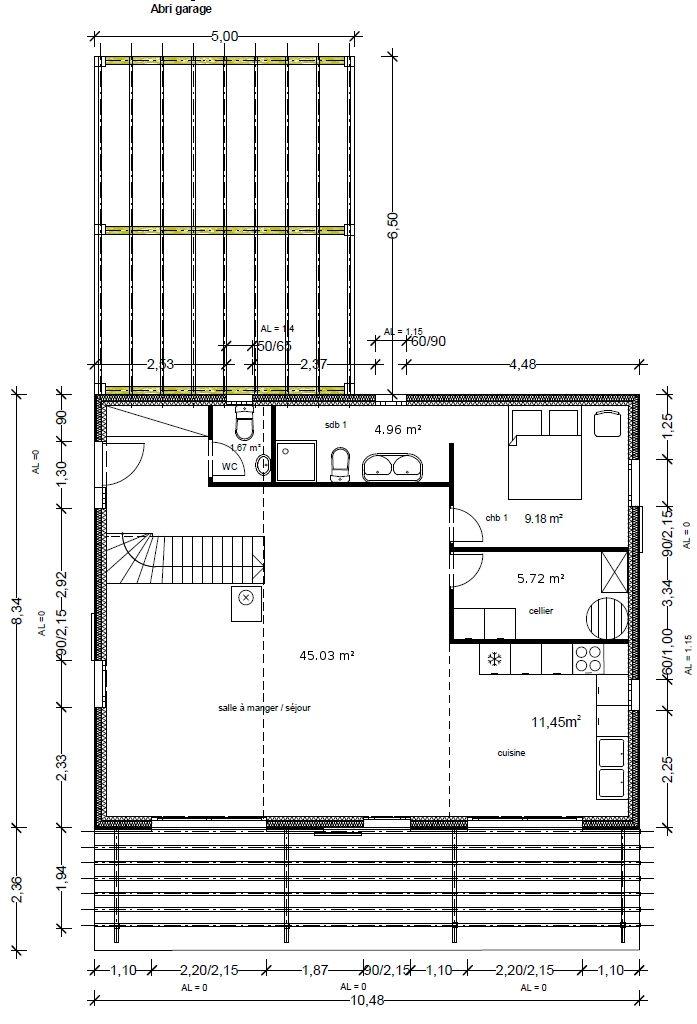 Plan du modèle Fenouillèdes Contemporaine plans Pinterest - plan de maison a etage moderne