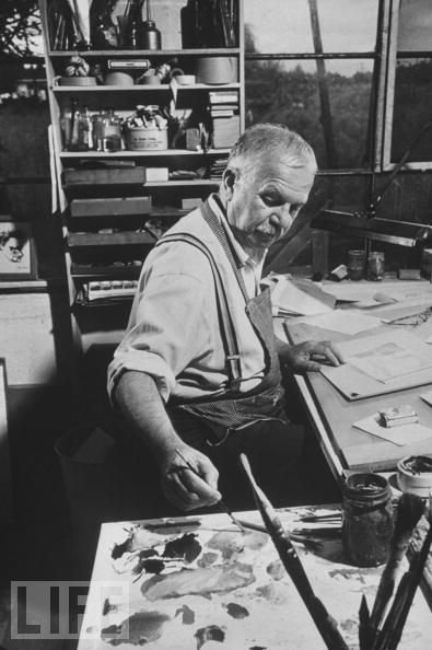 Ben Shahn -He founded the Skowhegan School of Painting and Sculpture is located on his property in Maine with other artists of the day.