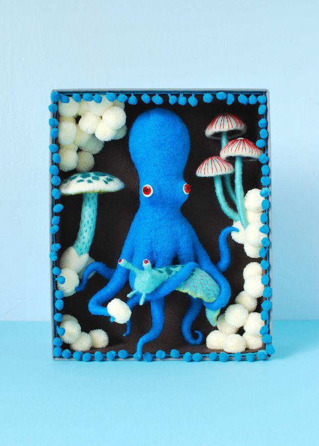 Blue Octopus Box on Behance