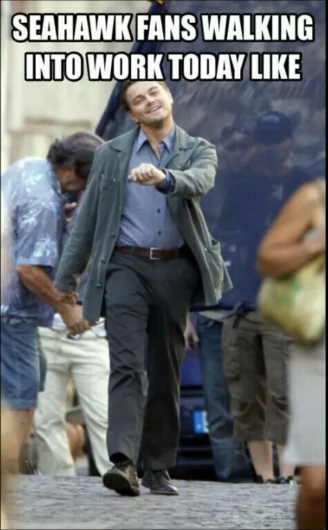Yep me walking into work today. :)