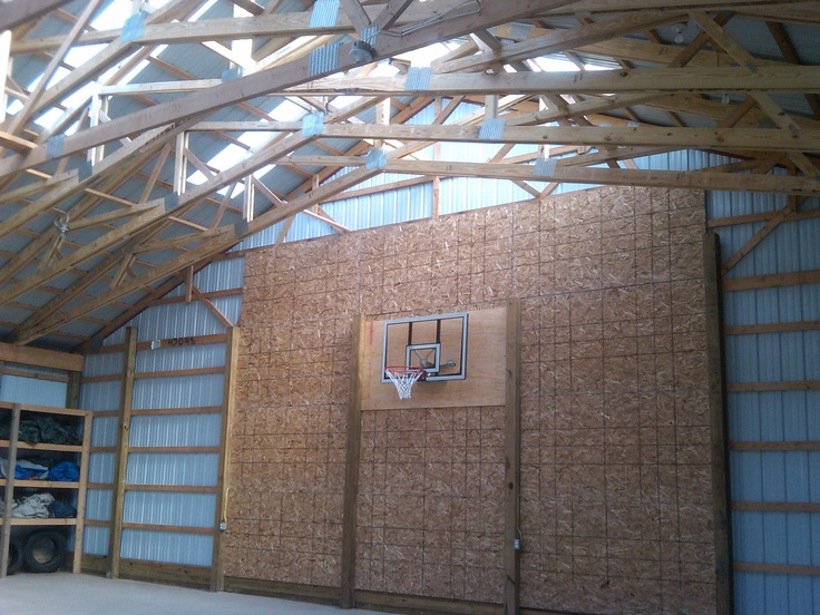 19 best images about garage rec room on pinterest barn for Building indoor basketball court