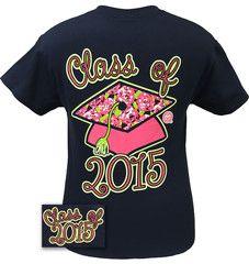 Girlie Girl Originals Preppy Class Of 2015 Senior Graduation Graduate | SimplyCuteTees