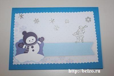 как сделать новогодние открытки с детьми