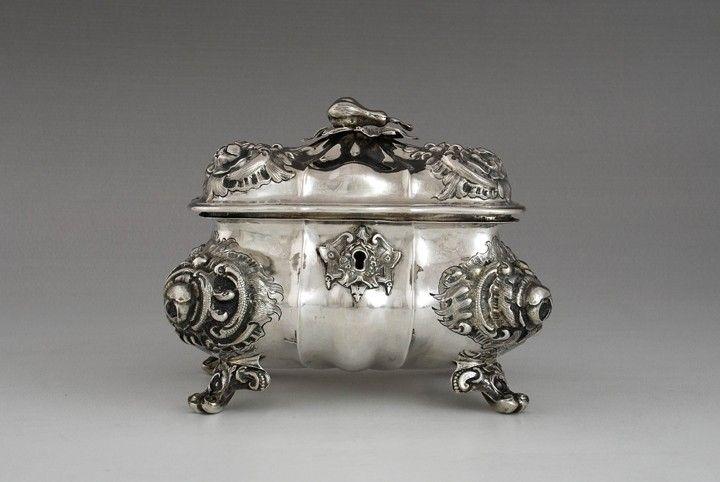 Silver Biedermeier sugar bowl, Germany or Austria