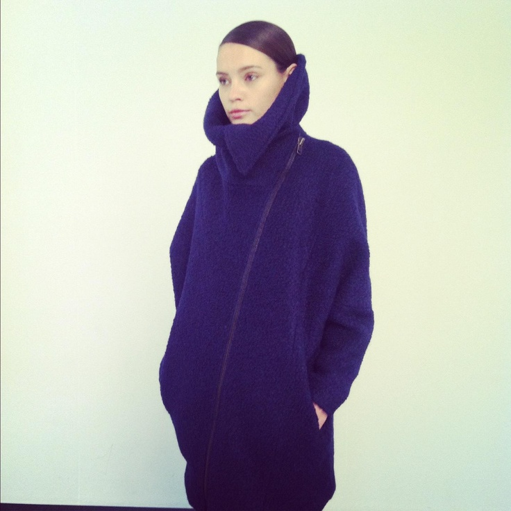 Sneak preview a/w 2013.... Lovely tamp jacket in blue