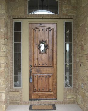 Love this rustic front door but something is missing around this one...but the actual door I want