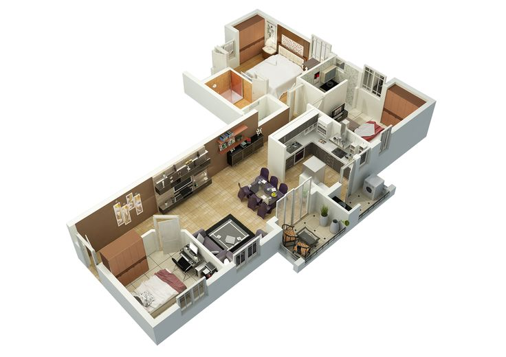 Cut Model of Duplex Floor Plan - Interior Design  Click this link to view more details - http://Interiors.ApnaGhar.co.in/
