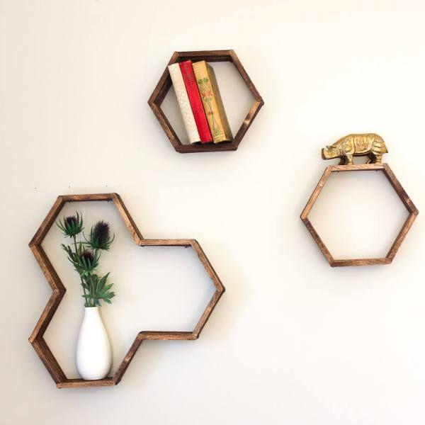 DIY Honeycomb Shelves (From Popsicle Sticks!) Pt. II