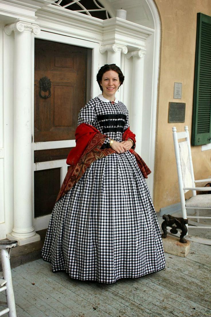 Adventures of a Costumer: Welbourne 1863: Plaid Wool Dress, based on 1860s original dress