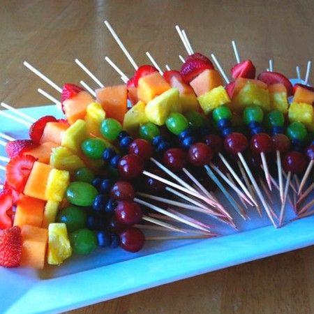 Regenboog prikkers - Rainbow fruit snack
