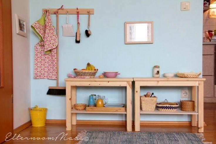 Montessori - Kinderküche from: http://elternvommars.blogspot.co.at/2014/11/unser-montessori-inspiriertes-zuhause.html