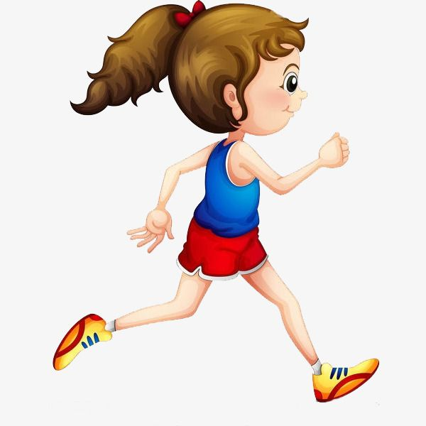 Running Girl | Running cartoon, Cartoon people, Girl running