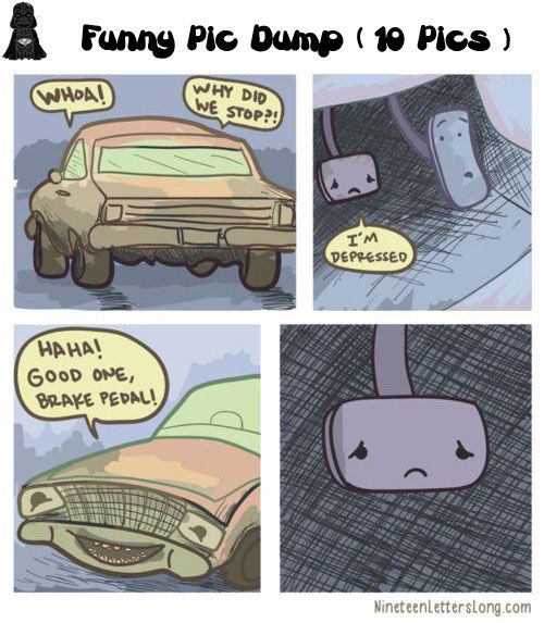 First of all, AWWWW POOR BRAKE PEDAL! Second, click through, the pictures are so fabulous!!