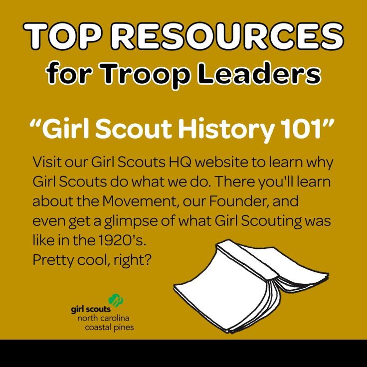 Calling all Girl Scout Troop Leaders! Looking for some super cool resources to help you make this year a total success? We've got you covered! Our first resource highlights the history of Girl Scouting over at the Girl Scouts USA website. Click to learn about our past, our future, and how we've been supporting girls over 100 years!