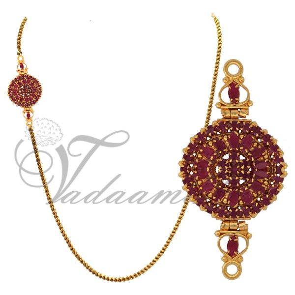 18 best mogappu chains images on pinterest gold chains gold ruby studded moppu chain side pendant designs httpvadaamalar mozeypictures Images