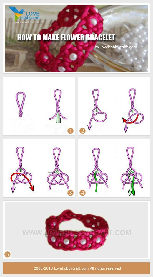 how-to-make-flower-bracelet