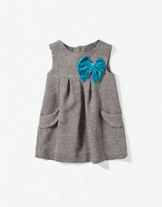 Shimmer dress with bow