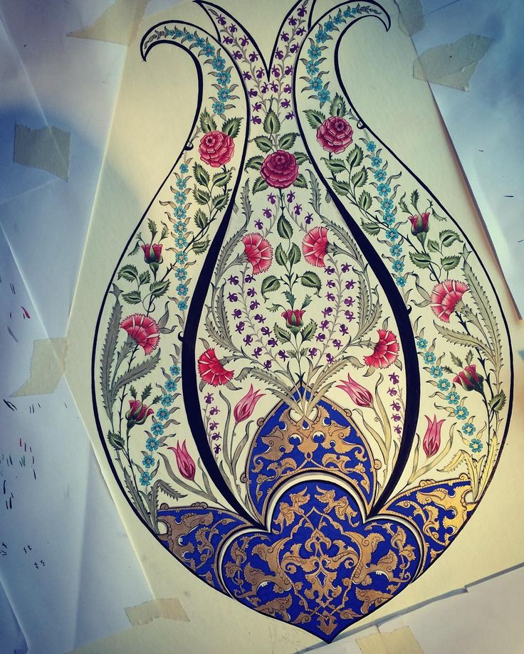 #tezhip#tazhib#art #islamicart #gelenekselsanatlar #turkishart #tezhipsanatı #islamic_art #altın#gold#rumi #lale #gül #karanfil #çini #