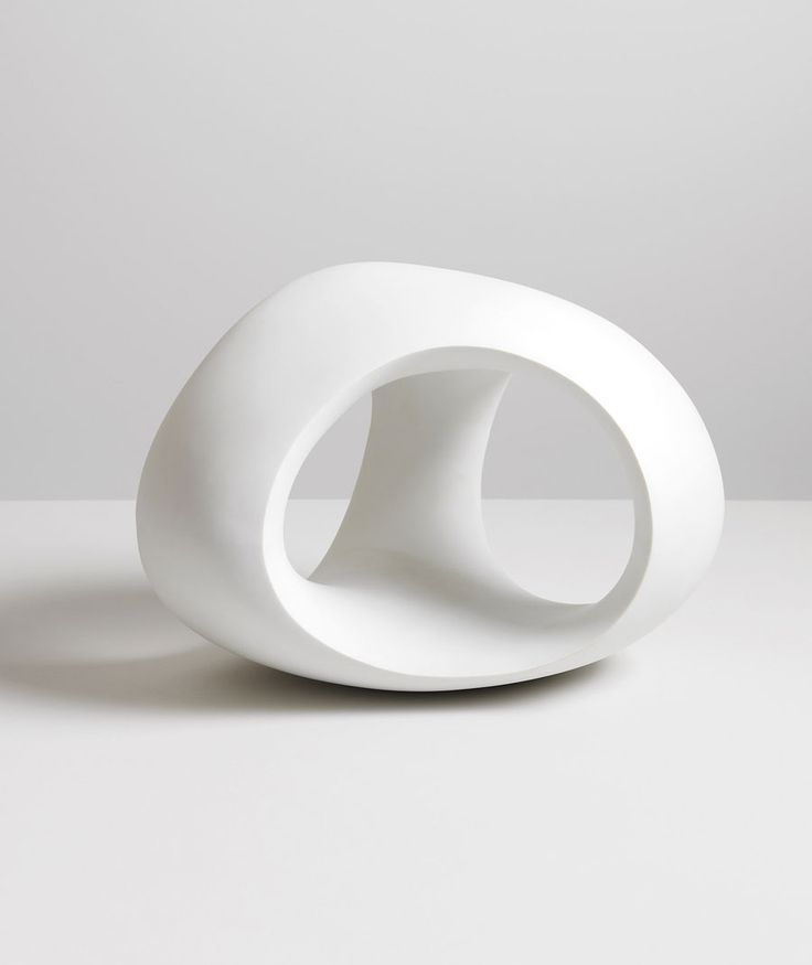 Three Way Ring, porcelain, 1966, by Henry Moore