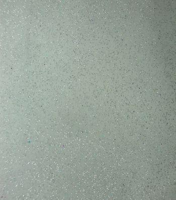 Glitterbug  Special Occasion Fabric- Glitter Organza White