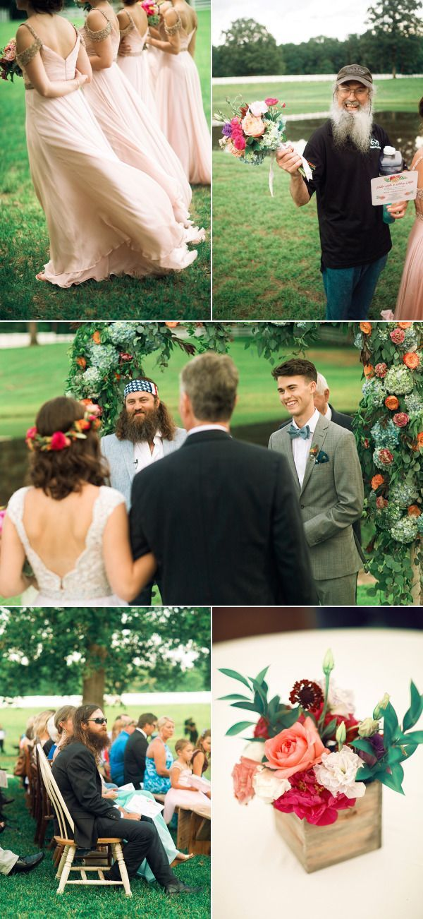 Exclusive! John Luke and Mary Kate's Duck Dynasty Wedding | Style Me Pretty | Bloglovin'                                                                                                                                                     More