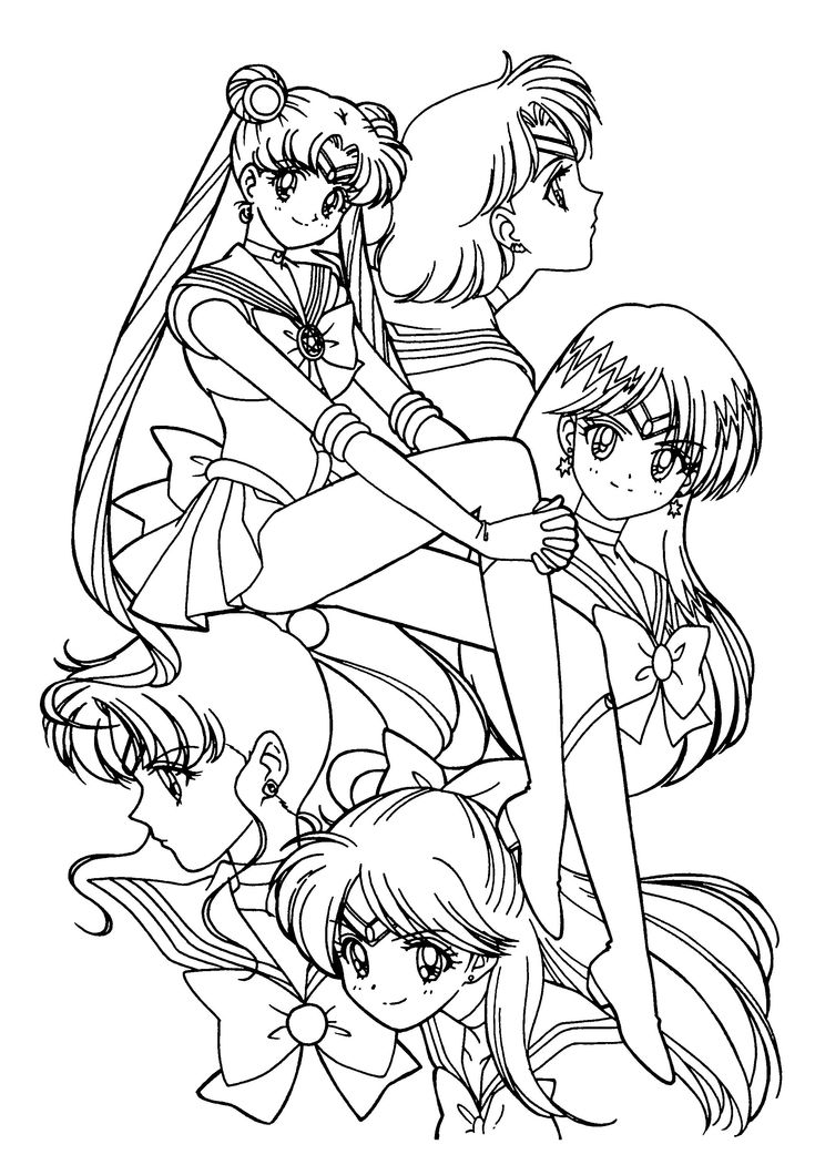 sailor moon coloring pages characters - photo#25