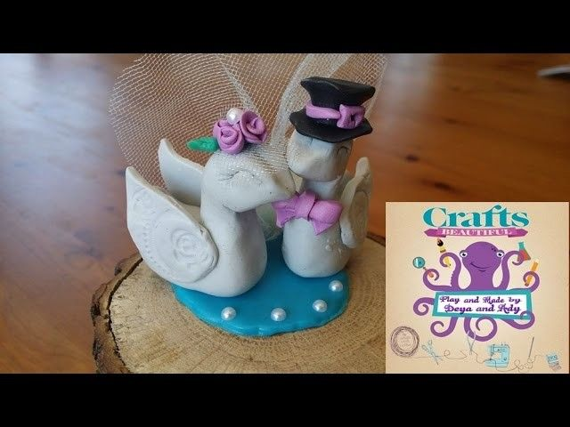Tutorial how to make funny wedding birds listening music from clay Stop Motion Video DIY video