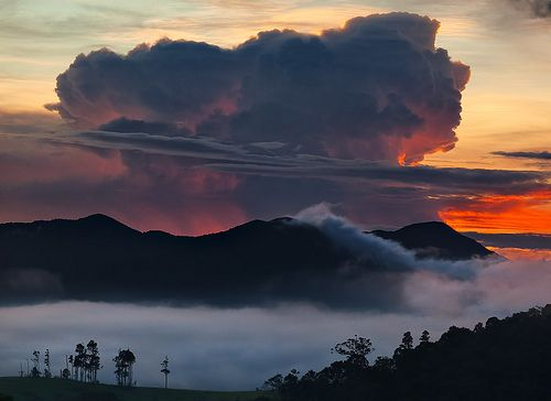 Before sunrise over the big mountain on the Atherton Tablelands