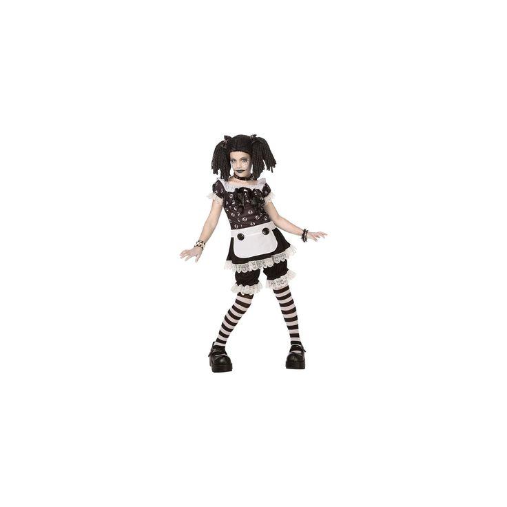 Halloween Girls' Gothic Rag Doll Costume Medium (7-8), Size: M(7-8), Variation Parent
