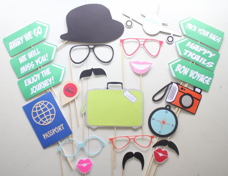 23pc *Away We Go Photobooth Props/Going Away Party Props