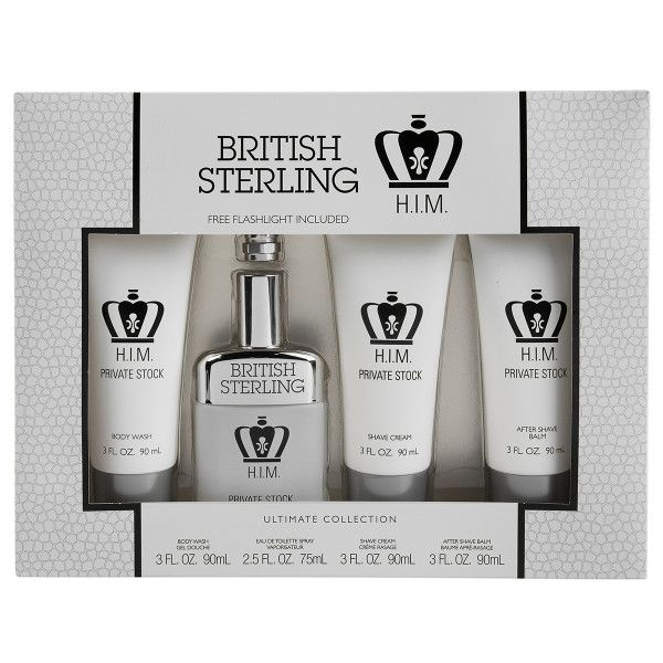 4pc British Sterling Private Stock Men's Shave & Cologne Gift Set