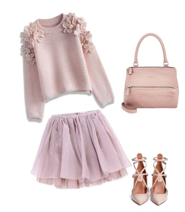 """""""Pink"""" by darwitasaniaputri on Polyvore featuring Chicwish, Olympia Le-Tan, Givenchy, Valentino, women's clothing, women, female, woman, misses and juniors"""