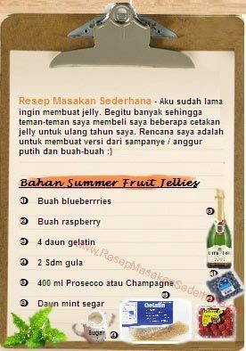 Resep Dessert - Bahan Summer Fruit Jellies  #resep#masakan#sederhana#makanan#penutup#enak#seger#bahan#jeli#berry#  Youtube : http://www.youtube.com/watch?v=xMbXIBbb554  Nb : website (http://ResepMasakanSederhana.net/) kami dalam proses pembuatan :)