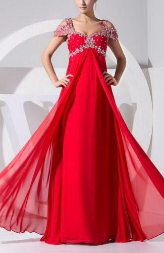 Chiffon Elegant Homecoming Dress - Order Link: http://www.thebridalgowns.com/chiffon-elegant-homecoming-dress-tbg6272 - SILHOUETTE: Sheath/Column; SLEEVE: Short Sleeves; LENGTH: Floor Length; FABRIC: Chiffon; EMBELLISHMENTS: Sequin , Paillette , Beaded - Price: 142.89USD